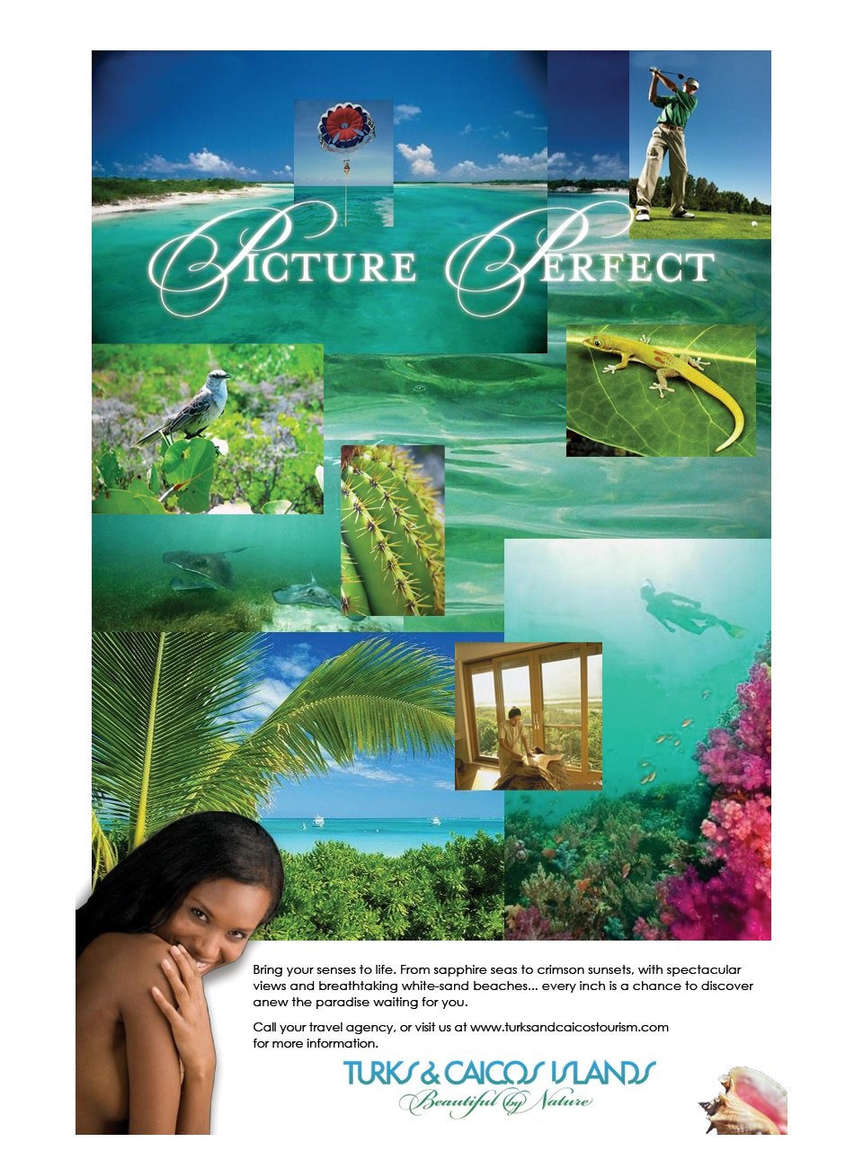 Turks & Caicos Islands - Picture Perfect Ad