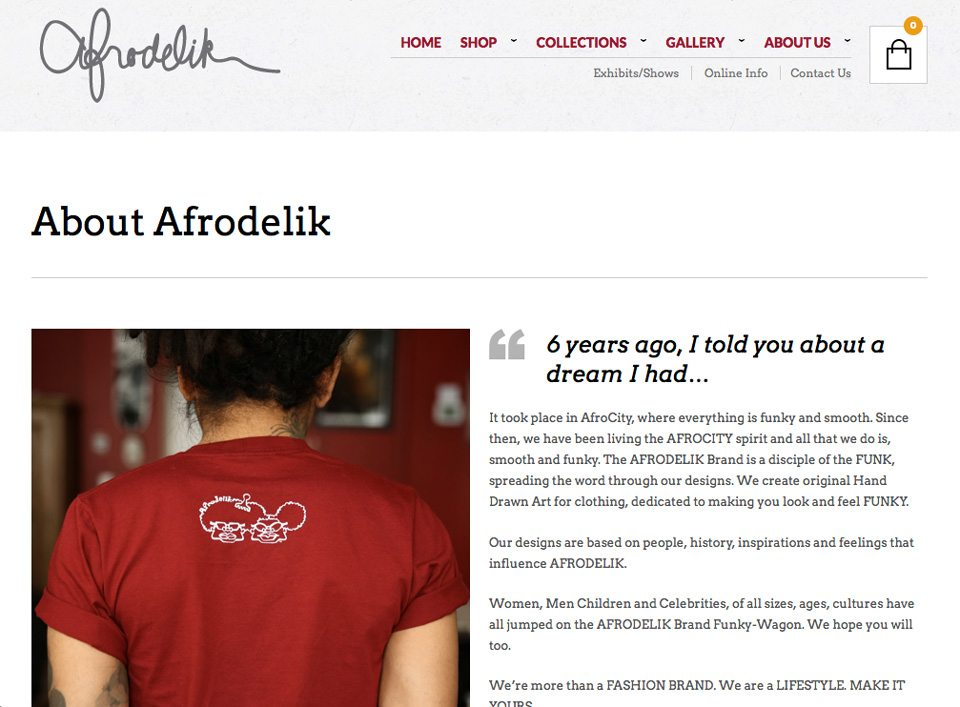 Afrodelik - Theme Customization, Maintenance and Updates