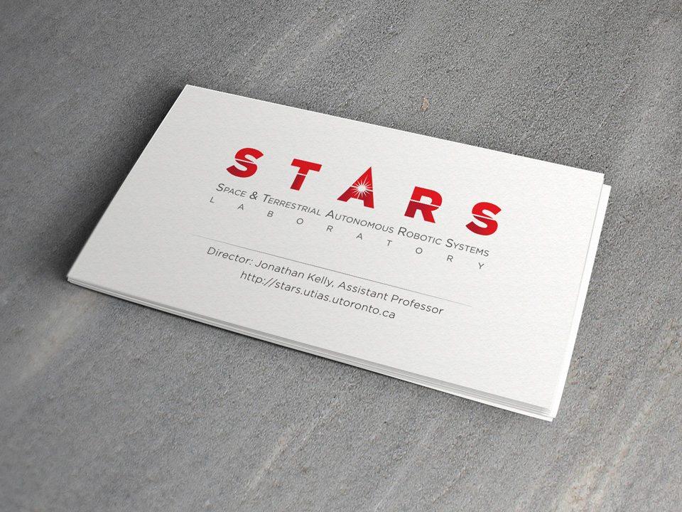 STARS Laboratory: business card design