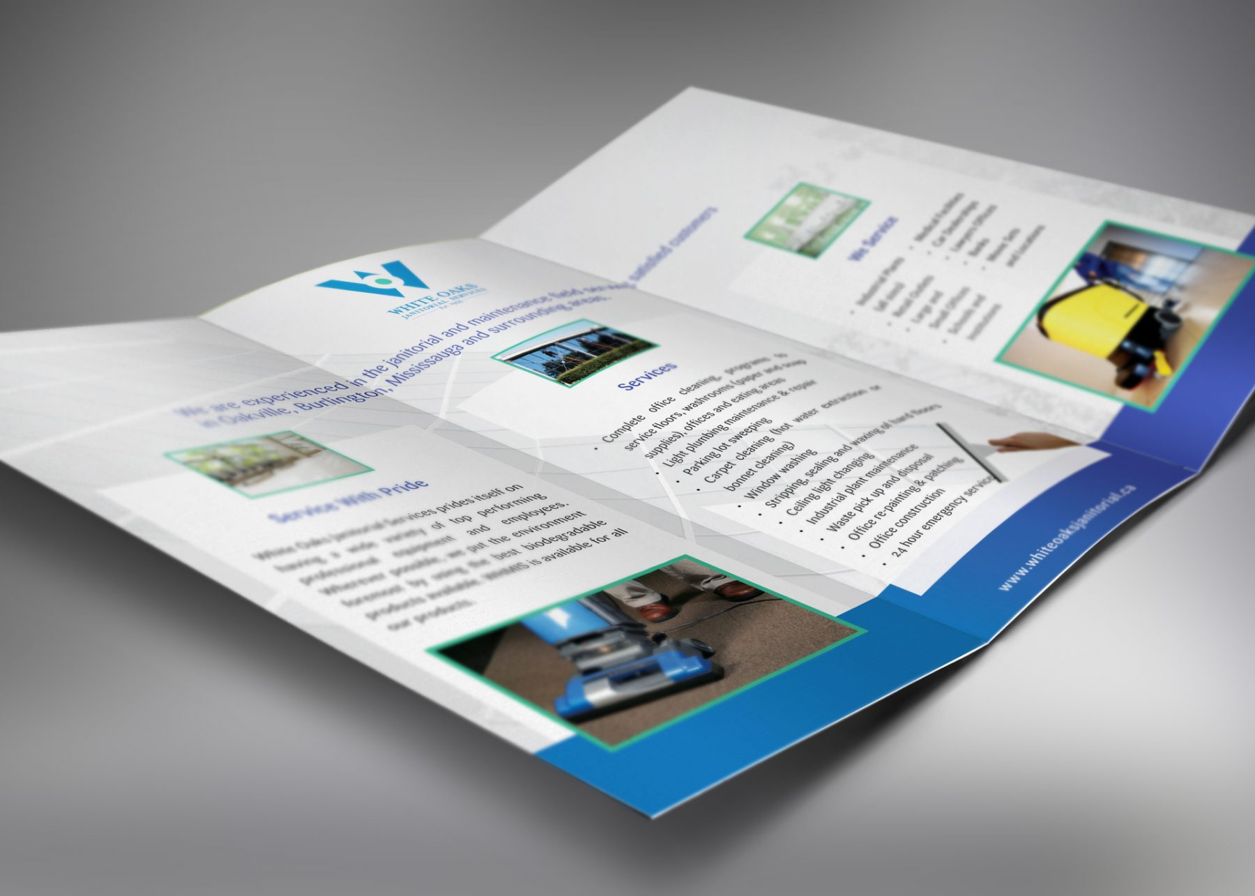White Oaks Janitorial Services - brochure design
