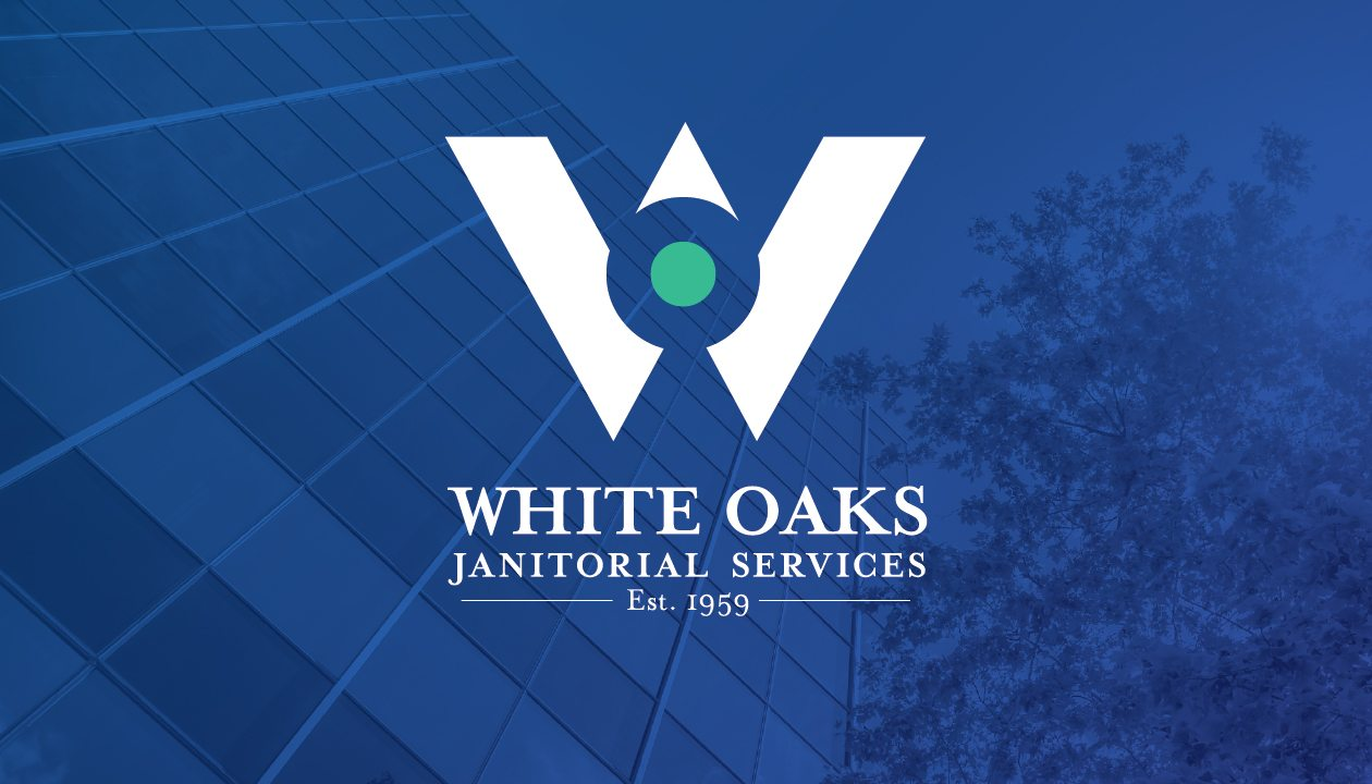 White Oaks Janitorial Services - business card design