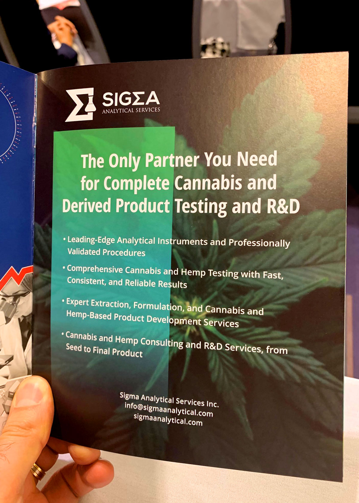Sigma Analytical Services: Printed Advertisement