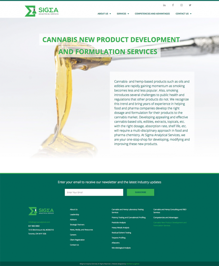 New Product Development page
