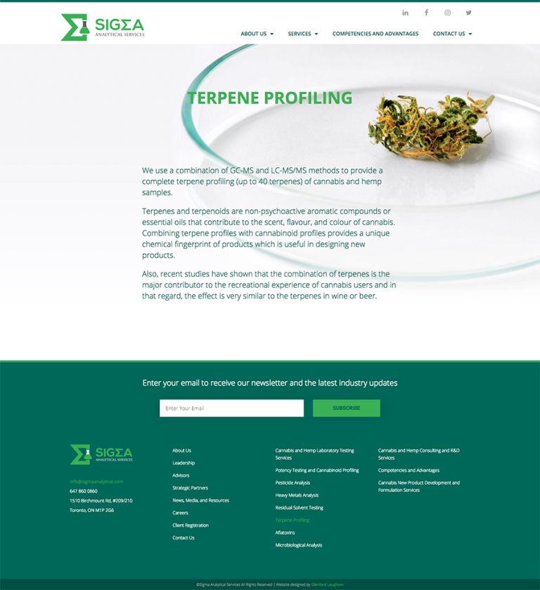 Terpene Profiling page