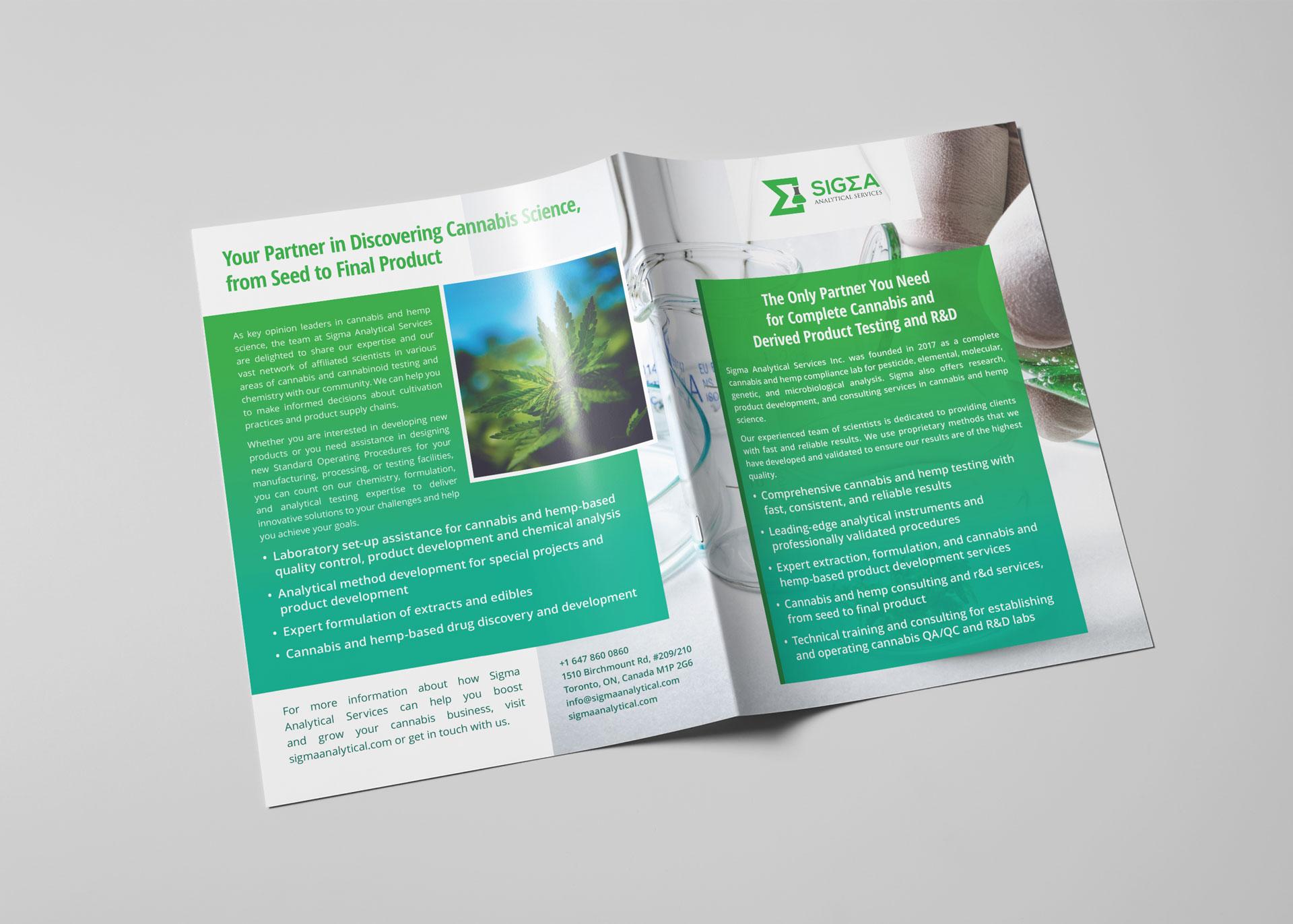 Sigma Analytical Services: Brochure Design